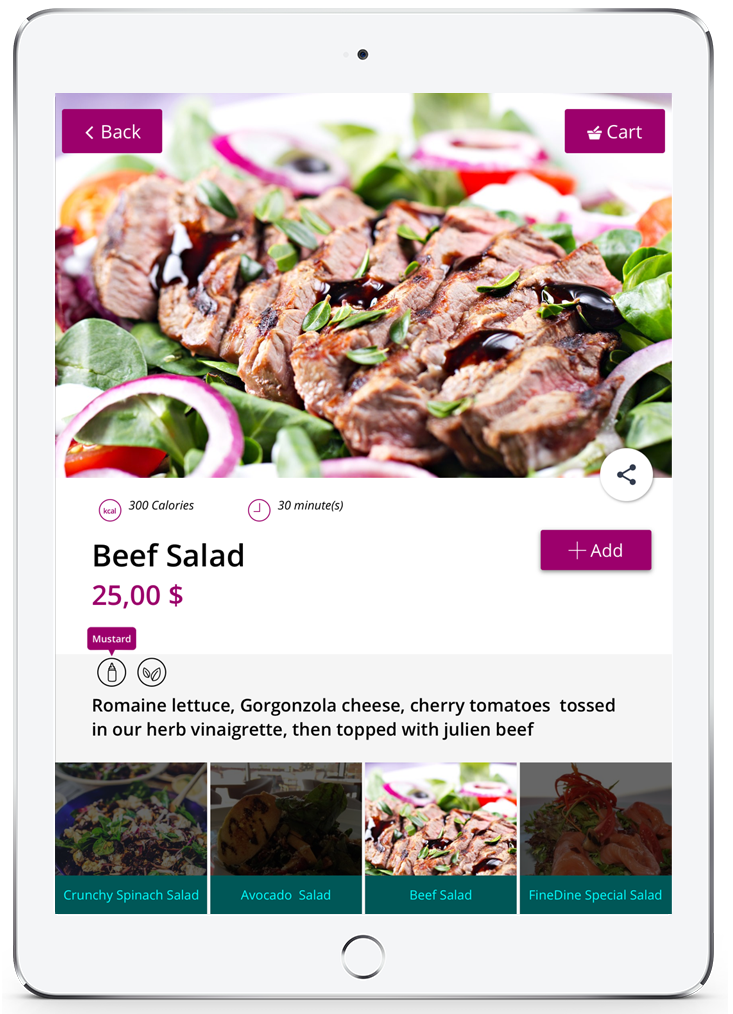 digital restaurants menu